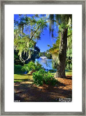 The Gardens At Legare Waring House Charles Towne Landing Sc Framed Print by Lisa Wooten