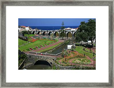 The Gardens Of Ribeira Grande Framed Print by Gaspar Avila