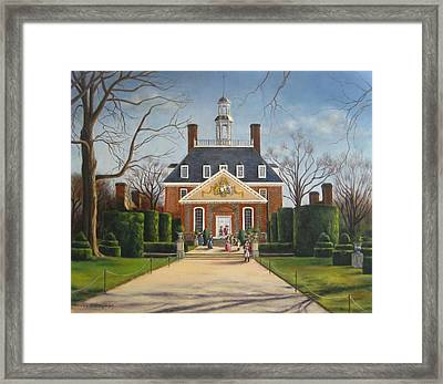 The Gardens Of The Governor's Palace Framed Print by Gulay Berryman