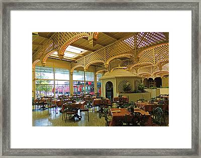 The Gardens Restaurant At Chattanooga Choo Choo Framed Print by Marian Bell