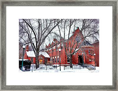 The Gardiner Library In Winter Framed Print by Olivier Le Queinec