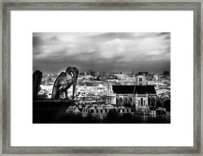The Gargoyles Of Notre Dame Framed Print by Cabral Stock