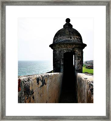 The Garitas Of The Fort  Framed Print
