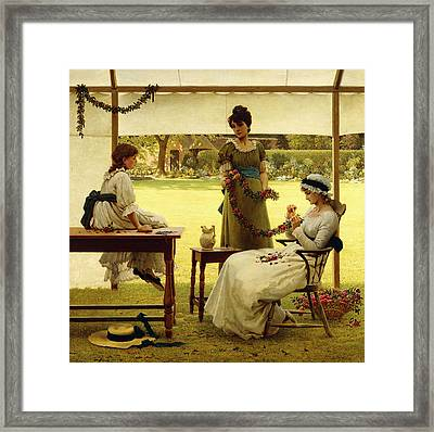 The Garland Framed Print
