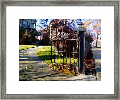 The Gate Framed Print by Betsy Zimmerli