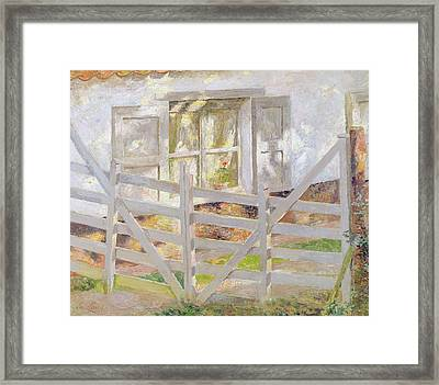 The Gate Framed Print by Emile Claus
