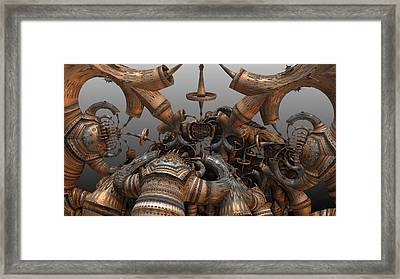 The Gate Framed Print by Hal Tenny