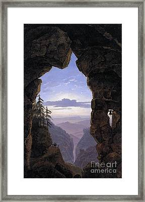 The Gate In The Rocks Framed Print by MotionAge Designs