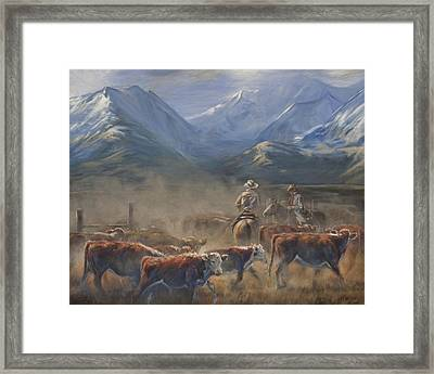 The Gate Tally Framed Print by Mia DeLode