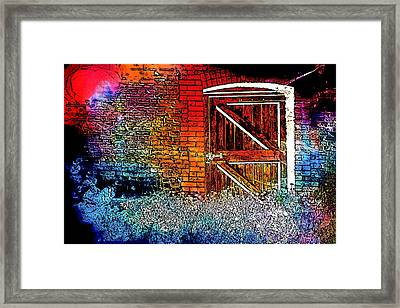 The Gate Framed Print by Tom Gowanlock