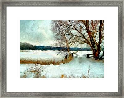 Framed Print featuring the painting The Gateway by Valerie Anne Kelly