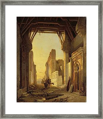 The Gates Of El Geber In Morocco Framed Print by Francois Antoine Bossuet