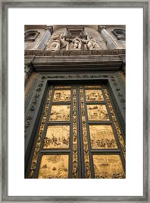 The Gates Of Paradise Doors Framed Print by Joel Sartore