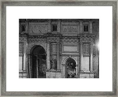 The Gates Of Rome Framed Print by Al Bourassa