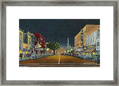 The Gates Theatre In Portsmouth Va In 1946 Framed Print