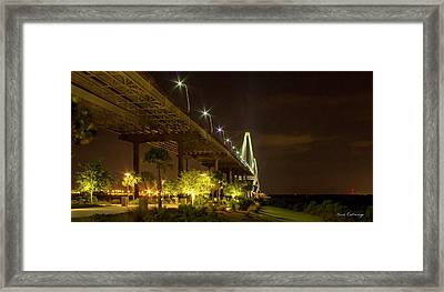 The Gateway Charleston Harbor Arthur Ravenel Jr Bridge Framed Print by Reid Callaway
