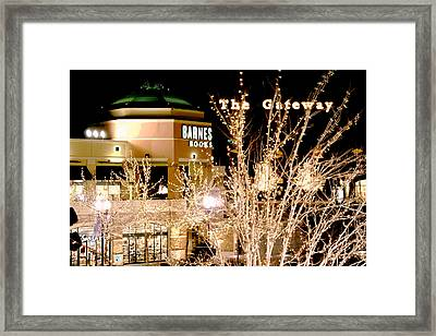 The Gateway Mall Framed Print