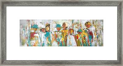 The Gatherers  Framed Print by Elaine Lanoue