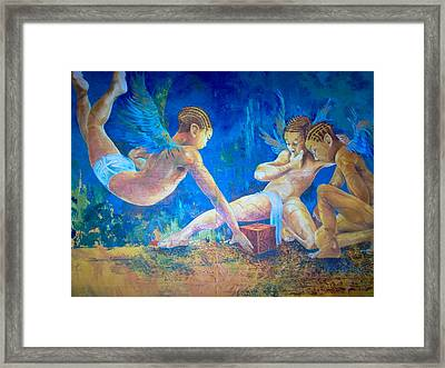 The Gathering  Framed Print by Benedict Olorunnisomo