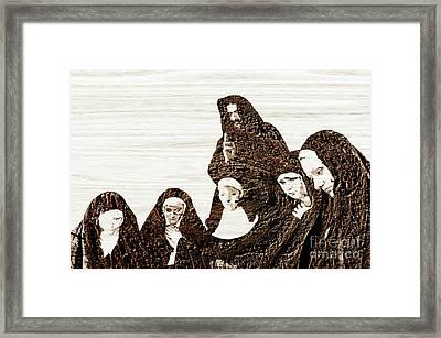 The Gathering For Prayer Framed Print