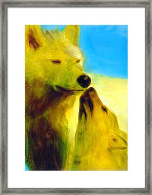 Framed Print featuring the painting The Gathering by FeatherStone Studio Julie A Miller