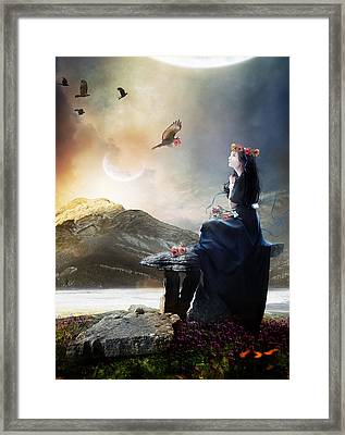 The Gathering Framed Print by Mary Hood