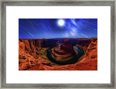 The Gathering Moon Framed Print by ABeautifulSky Photography