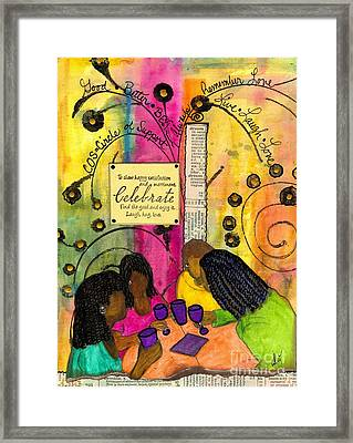The Gathering Of Good Friends Framed Print by Angela L Walker