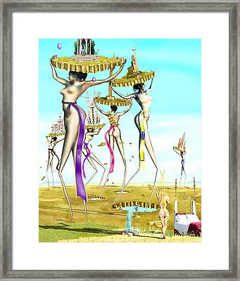 The Gathering Of Male Religious Symbols Two Framed Print by Leo Malboeuf