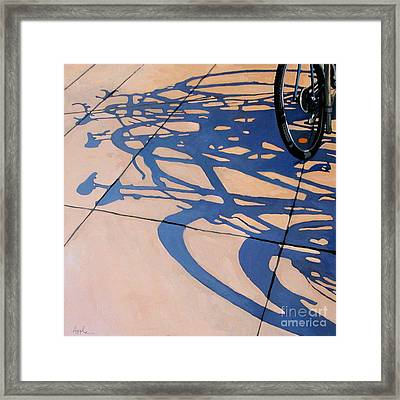 The Gathering -painting Framed Print by Linda Apple