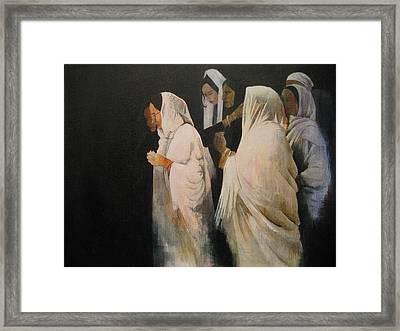 The Gathering Framed Print by Victoria Heryet