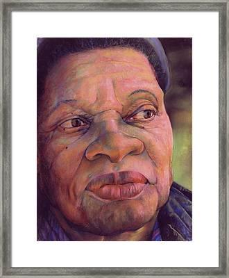 The Gaze Of Mother Witt Framed Print by Curtis James