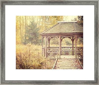 The Gazebo In The Woods Framed Print by Lisa Russo