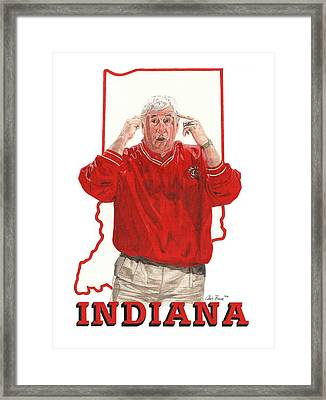The General Bob Knight Framed Print by Chris Brown