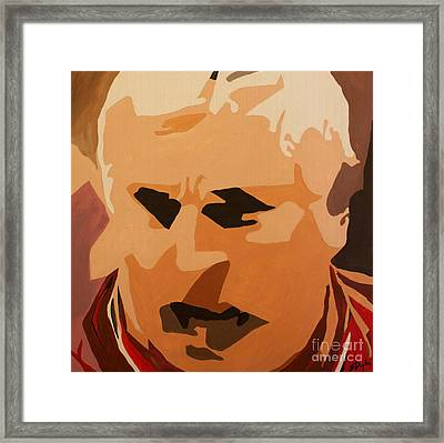 The General- Bobby Knight Framed Print by Steven Dopka
