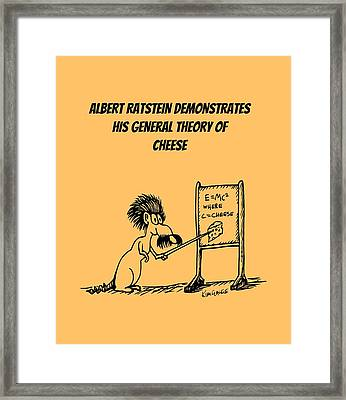 The General Theory Of Cheese Framed Print