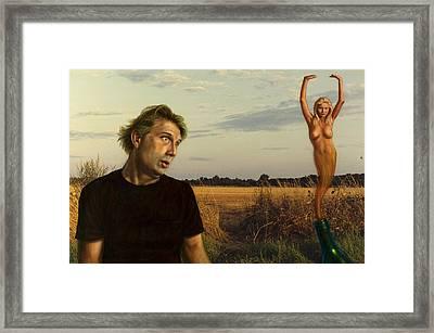 The Genie Framed Print by James W Johnson