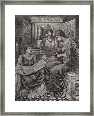 The Gentle Music Of The Bygone Day Framed Print by John Melhuish Strudwick