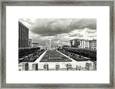 The Geometric Garden In Black And White Framed Print