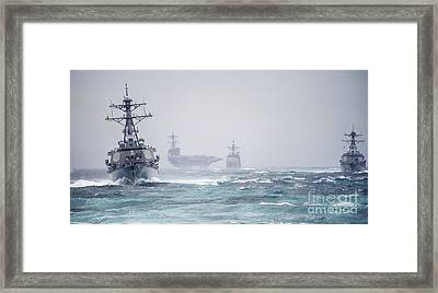 The George H.w. Bush Carrier Framed Print by Celestial Images