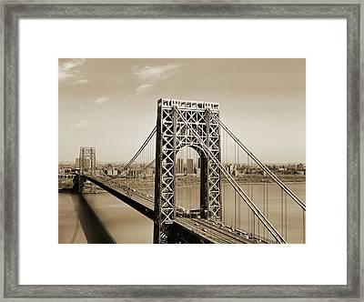The George Washington Bridge Framed Print
