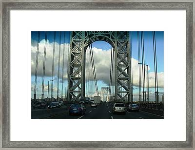 The George Washington Bridge  Framed Print by Paul SEQUENCE Ferguson             sequence dot net