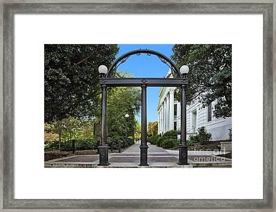 The Georgia Arch Framed Print