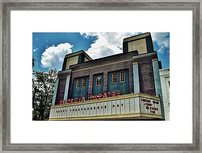 The Georgia Theatre - Athens Framed Print