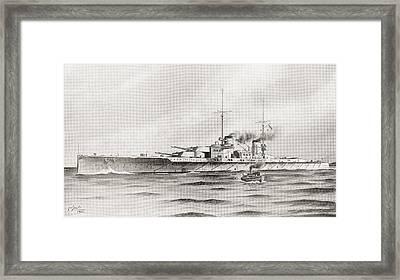 The German Battle Cruiser, Lutzow Framed Print