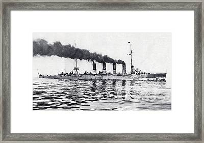 The German Light Cruiser Magdeburg Framed Print by Vintage Design Pics