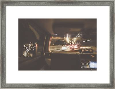 The Getaway Car Chase Framed Print