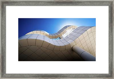 The Getty Museum - Los Angeles, United States - Architecture Photography Framed Print by Giuseppe Milo