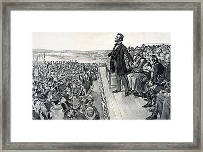 The Gettysburg Address Framed Print by American School