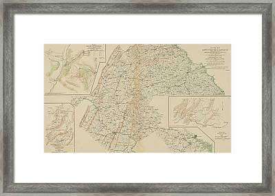 The Gettysburg Campaign - American Civil War Framed Print